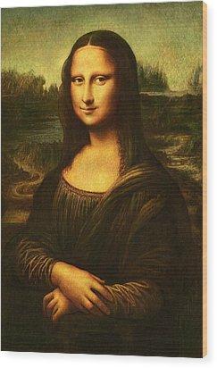 Wood Print featuring the painting Mona Lisa  by Leonardo Da Vinci