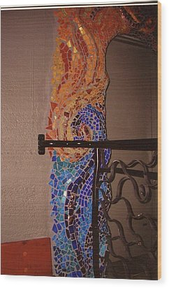 Mosaic Doorway Wood Print by Charles Lucas