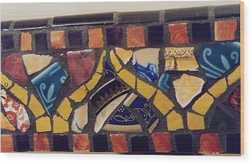 Mosaic Table Top Wood Print by Charles Lucas