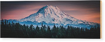 Wood Print featuring the photograph Mt. Rainier by Chris McKenna