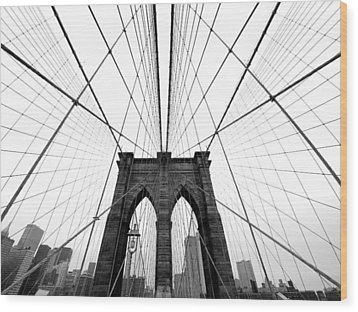 Nyc Brooklyn Bridge Wood Print