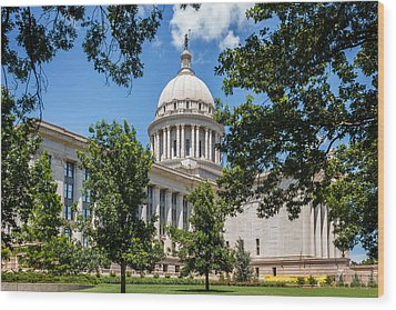 Oklahoma State Capital Wood Print