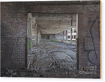 Wood Print featuring the photograph Packard Factory by Jim West