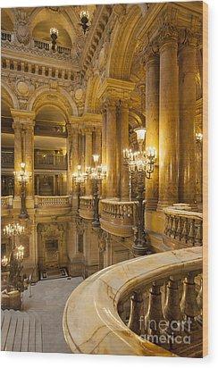 Palais Garnier Interior Wood Print by Brian Jannsen