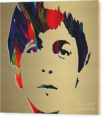 Paul Mccartney Gold Series Wood Print by Marvin Blaine