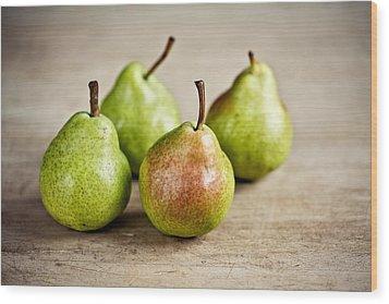 Pears Wood Print by Nailia Schwarz