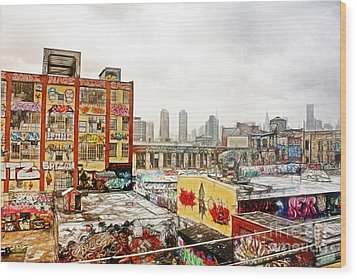 5 Pointz In Itz Prime Wood Print by Nishanth Gopinathan