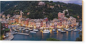 Wood Print featuring the photograph Portofino Italy by Carl Amoth