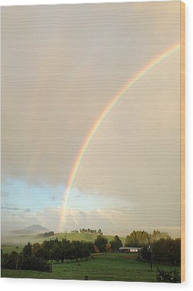 Rainbow Wood Print by Les Cunliffe
