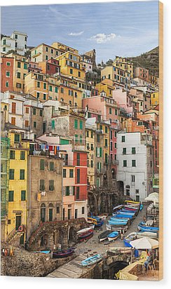 Riomaggiore Wood Print by Joana Kruse