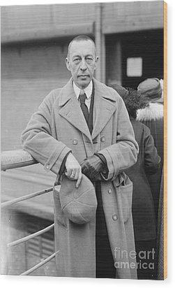 Sergei Rachmaninoff Wood Print by Granger