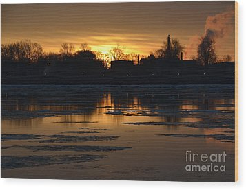 Sunrise Wood Print by Randy J Heath