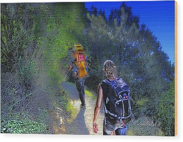 5 Terre Monterosso Trekking In Passeggiate A Levante Wood Print by Enrico Pelos