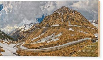 Transfagarasan Highway Wood Print by Gabriela Insuratelu