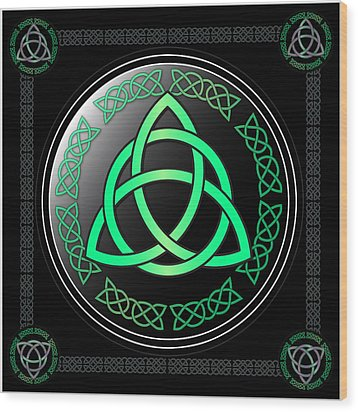 Triquetra Wood Print by Ireland Calling