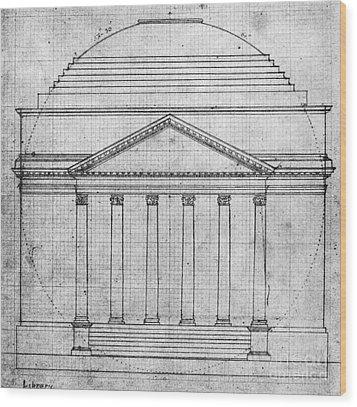 University Of Virginia Wood Print by Granger