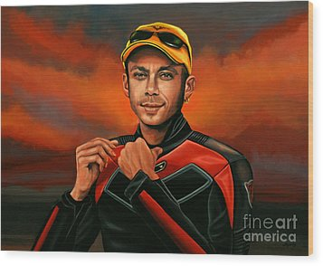 Valentino Rossi  Wood Print by Paul Meijering