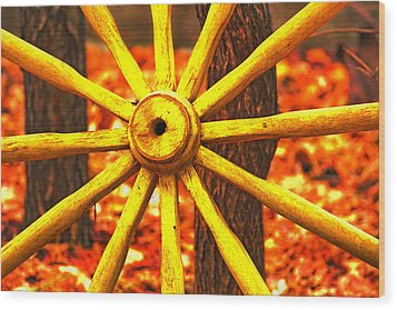 Wheels Of Time Wood Print