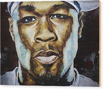 50 Cent Wood Print by Laur Iduc