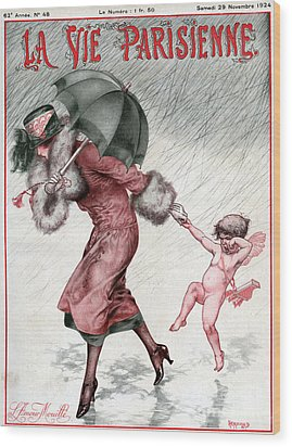 La Vie Parisienne 1924 1920s France Wood Print by The Advertising Archives