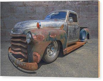 52 Chevy Truck Wood Print by Debra and Dave Vanderlaan