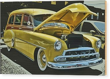 '52 Chevy Wagon Wood Print by Victor Montgomery