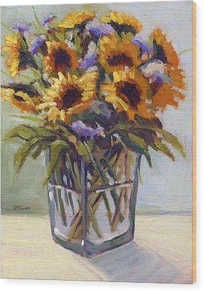 Summer Bouquet 4 Wood Print