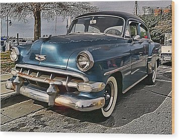 '54 Chevy Wood Print by Victor Montgomery