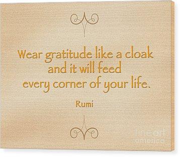 54- Rumi Wood Print