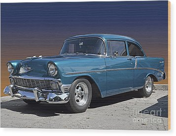 56 Chevy Wood Print