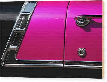 56 Chevy Two Tone Wood Print by Steve Raley