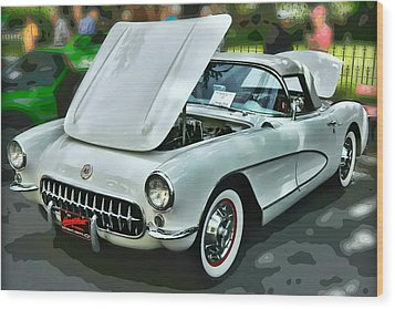 Wood Print featuring the photograph '56 Corvette by Victor Montgomery