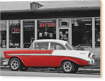 Wood Print featuring the photograph '56 Tattoo by Christopher McKenzie