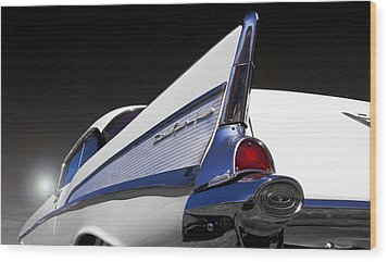 57 Chev Bel Aire Wood Print by John  Bartosik