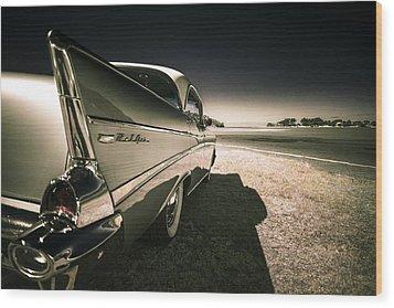 57 Chevrolet Bel Air Wood Print by motography aka Phil Clark