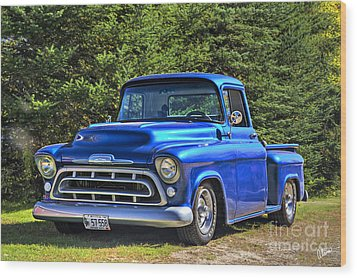 57 Chevy Wood Print by Alana Ranney