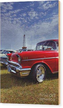57 Chevy Belair Wood Print