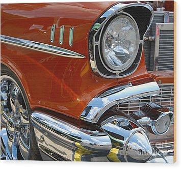 '57 Chevy Closeup Wood Print