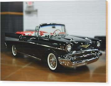 Wood Print featuring the photograph 57 Chevy Convertible  by B Wayne Mullins