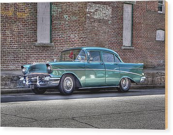 '57 Chevy Wood Print by Tony  Colvin