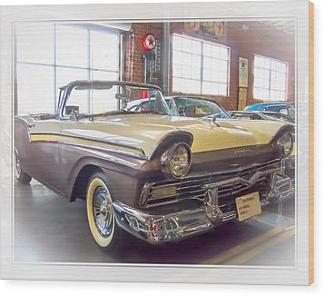 Wood Print featuring the photograph 57 Ford Fairlane by Steve Benefiel
