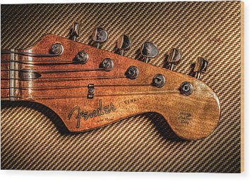 '57 Stratocaster Wood Print by Ray Congrove