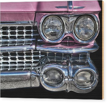 59 Caddy Lights Wood Print by Victor Montgomery