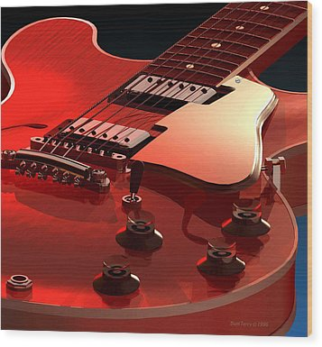 '59 Dot Neck Gibson Es-335 Wood Print by Dan Terry