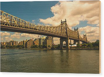 59th Street Bridge Ny Wood Print