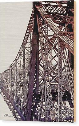 59th Street Bridge - Nyc Wood Print by Linda  Parker