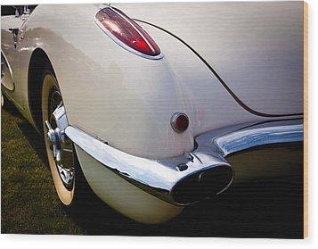 1959 Chevy Corvette Wood Print by David Patterson