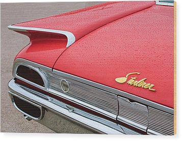 1960 Ford Galaxie Starliner Taillight Emblem Wood Print by Jill Reger