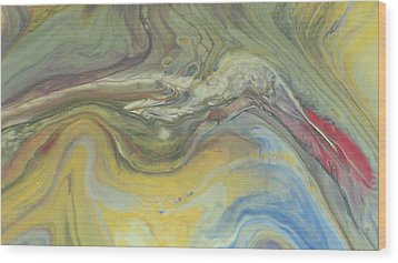 Acrylic Pour Wood Print by Sonya Wilson