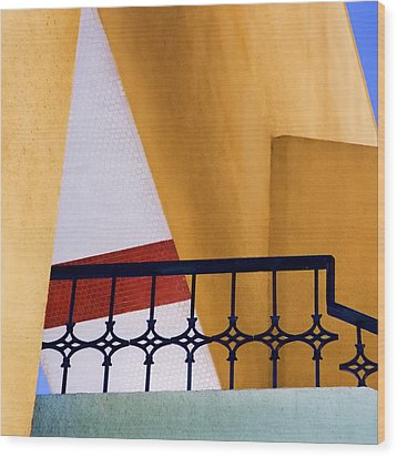 Architectural Detail Wood Print by Carol Leigh